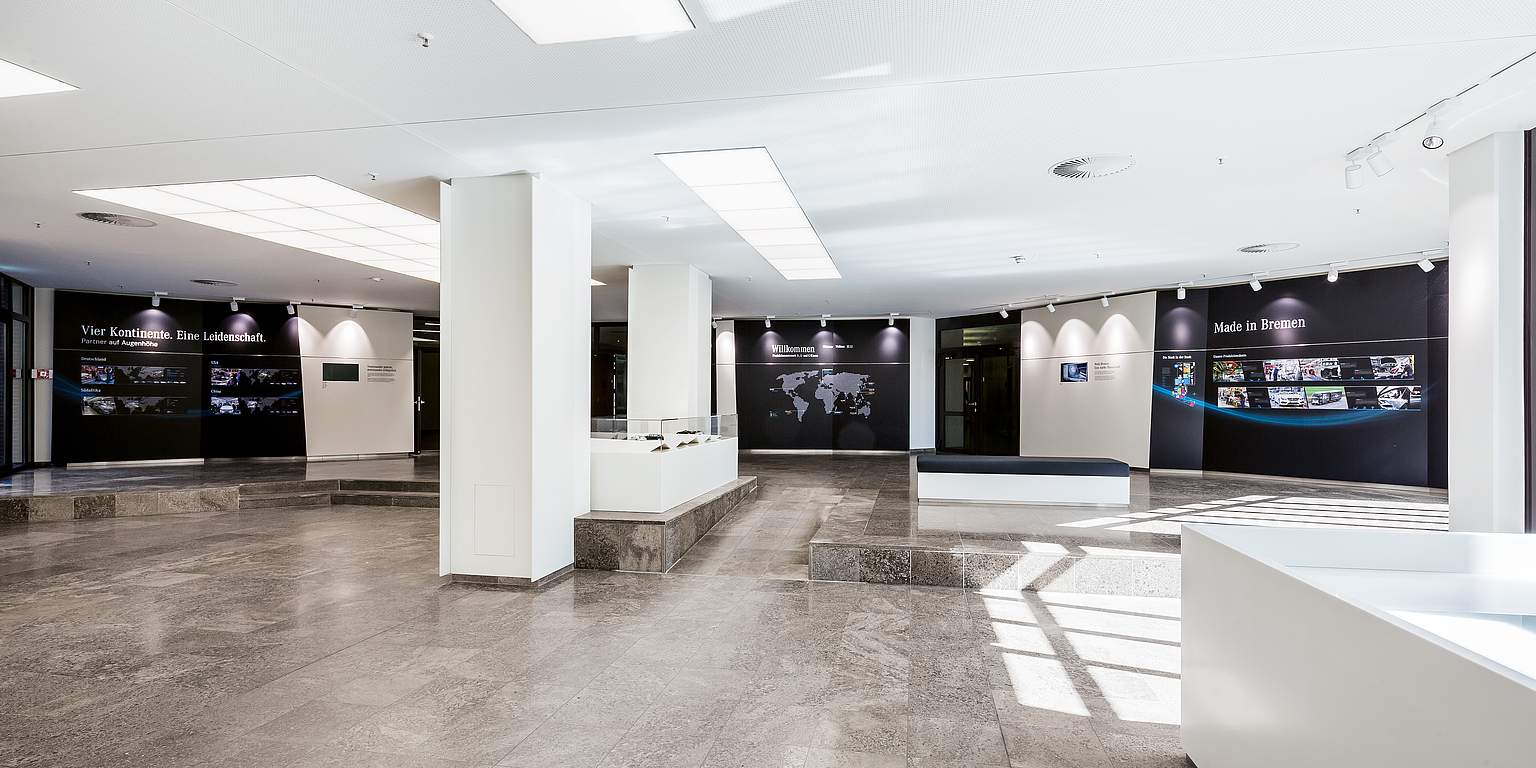 Foyer design of administration building
