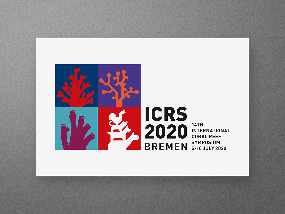Logo Visitenkarte International Coral Reef Symposium 2020